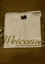 AUTHENTIC OVO Welcome NYC Tee White Gold M NYC TORONTO October's Very Own