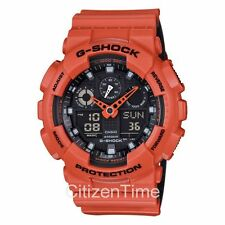-NEW- Casio G-Shock Orange Magnetic Resistance Watch GA100L-4A