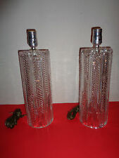 """NEW Pair of Signed  Waterford Crystal Table Lamps (15 by 4.5 by 4.5"""")"""