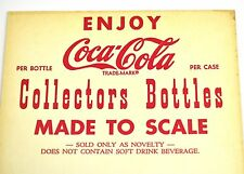 Coca Cola Coke Werbetafel USA 1950er - Collectors Bottle Made to Scale