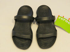 Crocs Cleo Black Black Relaxed Fit Sandal Womens W 6 Croslite material NWT