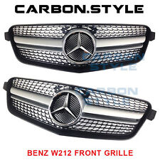 DIAMOND SILVER 2010-13 Mercedes Benz E-Class W212 E63AMG Look Front Grille