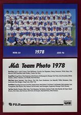 1978 New York Mets 7x5-inch Team Photo/1992 Fugi & WIZ home entertainment center
