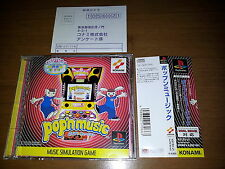 POP' N MUSIC SONY PLAYSTATION VIDEOGAMES PS JAP JAPANESE PSX PS1