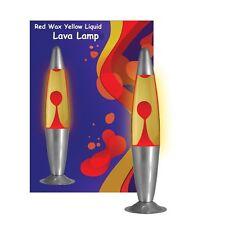 """Gran cohete 16"""" 40cm rojo y amarillo de Larva De Iluminación Decorativa Lámpara de Lava Lámparas UK"""
