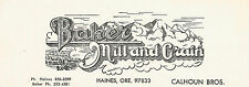 Label-BAKER MILL and GRAIN,Calhoun Bros,Haines,OR.Original logo=ProductsOverTime