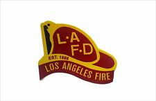 LAFD HELMET CAR WINDOW DECAL LOS ANGELES FIRE DEPARTMENT STICKER