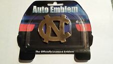 NORTH CAROLINA TAR HEELS AUTO EMBLEM GOLD DECAL MICHAEL JORDAN