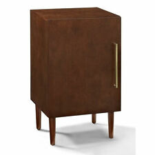 Crosley Everett Record Player Stand in Mahogany Transitional Audio Rack