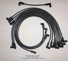 1987-1994 CHEVY BLAZER 1987-91 GMC JIMMY 5.7L 350 TBI 8mm BLACK Spark Plug Wires