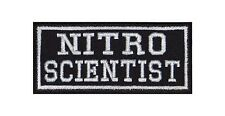 Nitro Scientist Biker Patches Aufnäher Motorrad MC Rocker Bügelbild Tuning Car