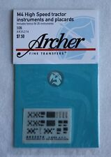 Archer 1/35 M4 High-Speed Tractor Instruments and Placards (w/Bonus M26) AR35274