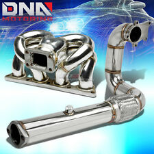 "FOR HONDA/ACURA B-SERIES B16/B18 TURBO RAM HORN MANIFOLD+3"" EXHAUST DOWNPIPE"