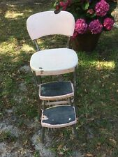 Pink Vintage Mid Century Retro Cosco Kitchen Chair PullOut Step Stool Atomic Age