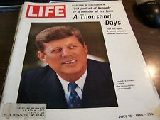 VINTAGE LIFE - 7/16/65 - FIRST PORTRAIT OF KENNEDY - A THOUSAND DAYS - EXCELLENT