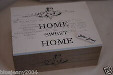 Shabby Chic Wooden Box Home  Sweet Home Small Tea Chest Spice Box Hill
