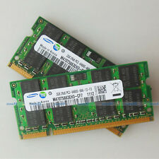 Samsung 4GB 2x2GB PC2-6400 DDR2-800 800Mhz 200pin DDR2 Laptop Memory SODIMM RAM