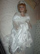 Heritage Signature Porcelain Collection~Wedding Doll~blonde hair bride doll