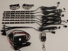 Wireless Control Sound 18 Color 5050 Led's H.D. Motorcycle 8pc Led lighting Kit