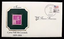 1940 Commemorative Famous Americans Stamp Inventor Cyrus Hall McCormick Sc 891