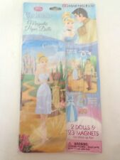 CINDERELLA DISNEY MAGNETIC PAPER DOLLS 2 DOLLS 23 MAGNETS IN TIN NIP