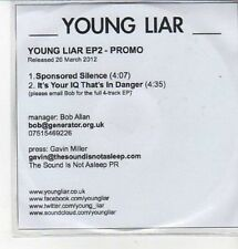 (CZ343) Young Liar, Young Liar EP2 - 2012 DJ CD