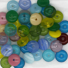 Czech Glass Wafer Disc Rondel 8mm Bead Mix Assorted Colors & Finishes