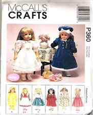 "OOP McCall's P360 pattern for 18"" Gotz Doll Dresses Raincoat Poodle Skirt"