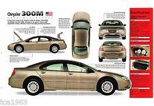 1998/1999 Chrysler 300M 300-M SPEC SHEET/Brochure/Flyer, '99