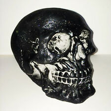 Black And Glitter Skull | Ornament | Collectable | RARE | Unusual Gift | Gothic