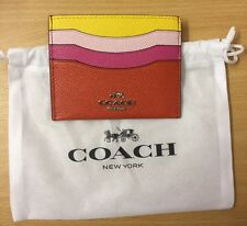 BNWOT Coach Leather Card Holder With Dustbag