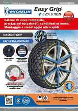 CATENA NEVE CALZA MICHELIN EASY GRIP EVOLUTION OMOLOGATA ITALIA 215/55R17 EVO11