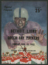 1953 GREEN BAY PACKERS DETROIT LIONS NFL GAME PROGRAM ~ QUALITY ITEM