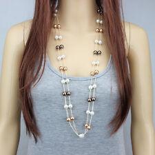 Fashion Jewelry Multi-layer Choker Statement Bib Pearl Pendant Chain Necklace