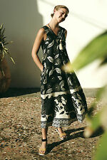 NEW ANTHROPOLOGIE $188 SOHA MAXI DRESS BY FLOREAT SZ L LARGE