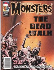 FAMOUS MONSTERS OF FILMLAND 253 HORROR MAGAZINE WALKING DEAD DEL TORO COOL