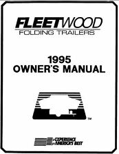 COLEMAN Popup Trailer Owners Manual- 1995 Destiny Royale Montauk Stony Creek