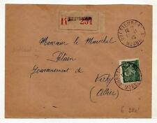A4803) FRANCE 1943 Reg Cov. to Petain - Questenbery V.
