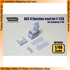 Wolfpack Design 1/48 ACE II Ejection Seat for Academy F-22A kit (6 Resin Parts)