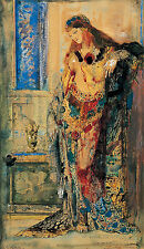 The toilettes Gustave Moreau bain Baden Femmes nues Orient foulards B a3 02184