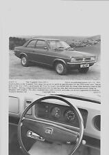 """ORIGINALE VAUXHALL VIVA 1300 L PRESS PHOTO """"brochure"""" correlate per 1976 ANNO del modello"""