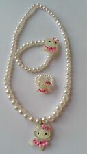 Filles hello kitty collier set