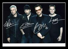 U2 AUTOGRAPHED SIGNED & FRAMED PP POSTER PHOTO
