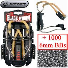 Genuine Barnett Black Widow Catapult Slingshot power band + 1000 6mm BB Ammo