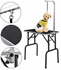 "Pet Grooming Table 32"" Adjustable Large Rubber W/Arm&Noose Foldable Portable"