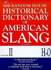 Random House Historical Dictionary of American Slang, Vol. 2: H-O, Lighter, Jona