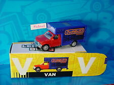 "2016 Matchbox Learning Blox ""V"" VAN~MBX MOVING TRUCK☆Red Cab; blue☆box"