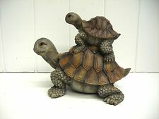G61057 TURTLE WITH BABY STATUE DECORATION FIGURINE GSC