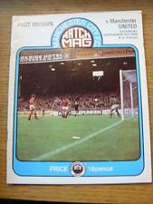 25/09/1976 Manchester City v Manchester United  (Creased)
