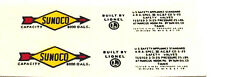 LIONEL SUNOCO 2465/6465 TANK CAR BLACK LETTER WATERSLIDE  2 DECAL PER SET LOOK!